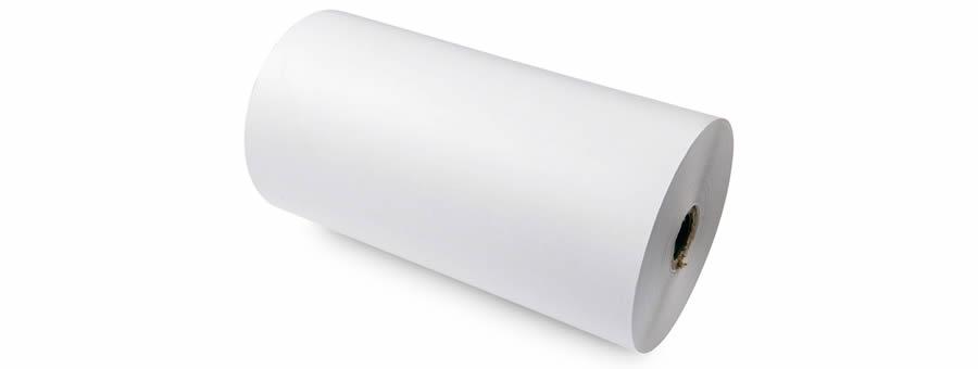 Bobina de papel blanco